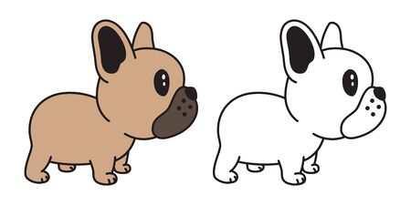 dog vector french bulldog icon cartoon character pug illustration symbol