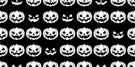 pumpkin seamless pattern Halloween vector ghost spooky scarf isolated repeat wallpaper tile background white