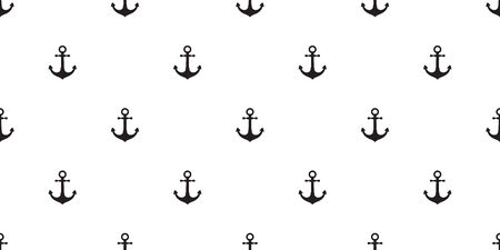 Anchor Seamless Pattern vector boat pirate helm nautical maritime tropical tile background scarf isolated repeat wallpaper