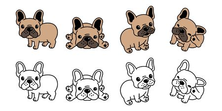 dog vector french bulldog icon cartoon character illustration symbol brown