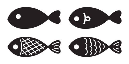 fish vector salmon icon illustration character graphic symbol cartoon Stock Vector - 129603138