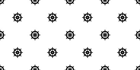 helm seamless pattern vector boat Anchor pirate isolated scarf Nautical maritime illustration sea ocean repeat wallpaper tile background Иллюстрация