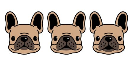 dog vector french bulldog icon character cartoon illustration symbol doodle brown