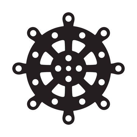 Helm vector icon boat Anchor Nautical maritime pirate sea ocean illustration Иллюстрация