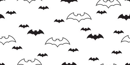 bat seamless pattern Halloween vector Dracula scarf isolated ghost flock illustration repeat wallpaper tile background Ilustrace
