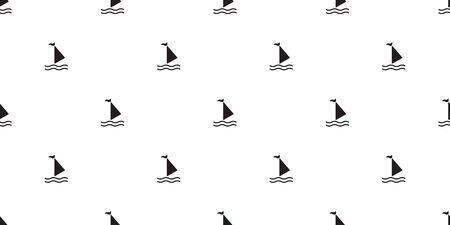 boat seamless pattern vector yacht sailboat anchor helm maritime Nautical tropical scarf isolated background wallpaper