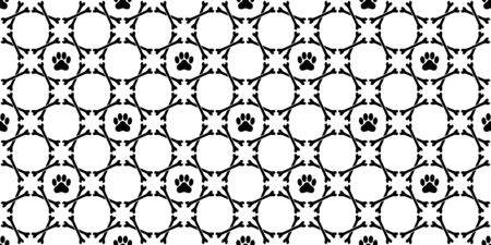 dog bone seamless pattern vector paw footprint french bulldog scarf isolated tile background repeat wallpaper
