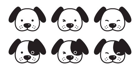 dog vector french bulldog icon head cartoon character Dachshund illustration