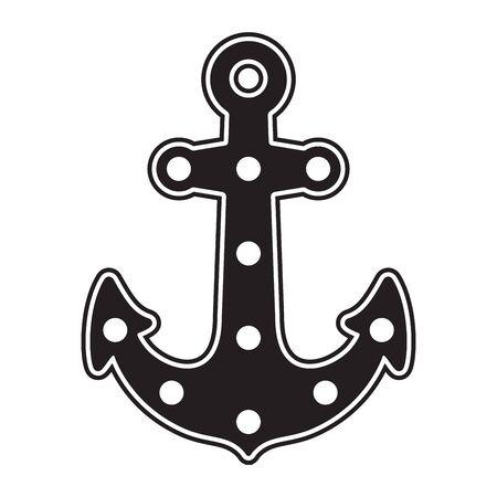 Anchor vector icon  boat maritime pirate Nautical helm illustration symbol graphic design clip art Иллюстрация