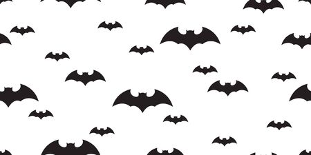 bat seamless pattern Halloween vector scarf isolated Dracula ghost flock illustration tile background repeat wallpaper