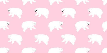 bear seamless polar bear vector pattern panda teddy scarf isolated tile background cartoon illustration repeat wallpaper