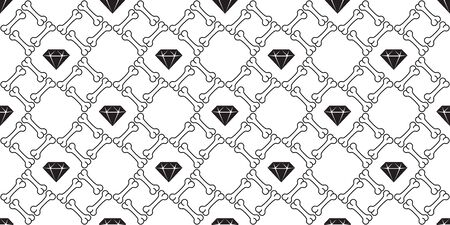 bone seamless pattern vector diamond gem Halloween pirate scarf isolated tile background wallpaper repeat