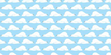 Bear seamless pattern vector Polar Bear sleep cartoon scarf isolated gift wrap repeat wallpaper tile background Stock Vector - 129603521