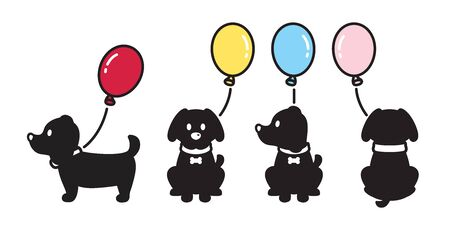 dog vector french bulldog balloon icon puppy cartoon character illustration  doodle