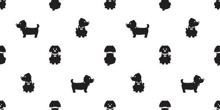 Dog seamless pattern french bulldog vector puppy scarf isolated cartoon illustration repeat wallpaper tile background