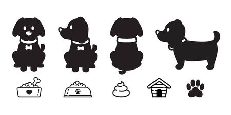 dog vector french bulldog cartoon character paw icon puppy breed  bowl poo dog food illustration doodle graphic