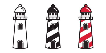 lighthouse vector  icon anchor helm boat maritime Nautical tropical beach illustration graphic