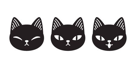 cat vector kitten calico cartoon character Halloween icon  illustration doodle black