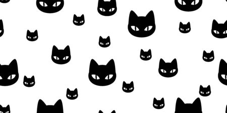 Cat seamless pattern vector kitten calico cartoon scarf isolated illustration tile background repeat wallpaper gift wrap  イラスト・ベクター素材