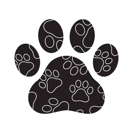 Dog paw vector footprint icon camouflage graphic symbol illustration french bulldog