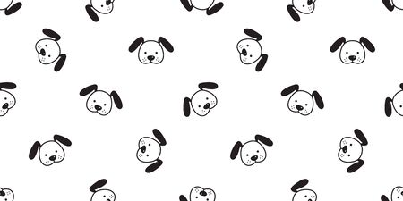 Dog seamless pattern Dachshund vector puppy french bulldog scarf isolated cartoon illustration repeat wallpaper tile background