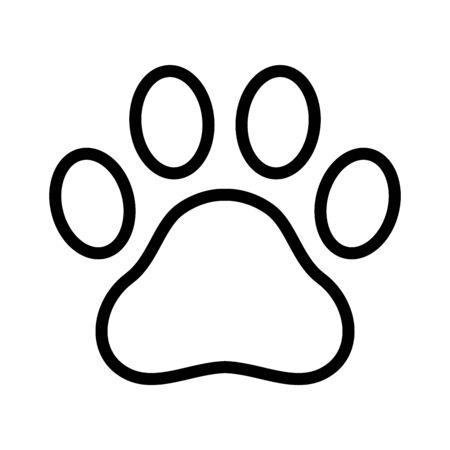 Dog paw vector footprint icon logo symbol graphic cartoon illustration french bulldog bear cat