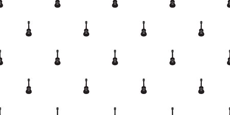 guitar seamless pattern vector ukulele bass music scarf isolated cartoon illustration repeat wallpaper tile background