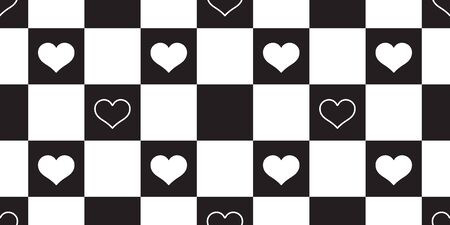 heart seamless pattern vector valentine checked isolated scarf repeat wallpaper tile background gift wrap
