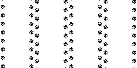 dog paw seamless pattern footprint vector french bulldog walking tile background wallpaper isolated white Ilustracja
