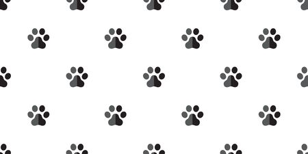 dog paw seamless pattern french bulldog vector footprint tile background wallpaper isolated white