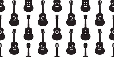 guitar seamless pattern vector bass ukulele music scarf isolated cartoon illustration graphic repeat wallpaper tile background