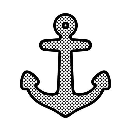 Anchor vector icon logo boat pirate symbol polka dot Nautical maritime helm illustration symbol graphic design  イラスト・ベクター素材