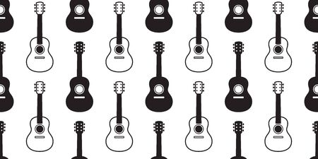 guitar seamless pattern vector bass ukulele music scarf isolated graphic illustration repeat wallpaper tile background design Illustration