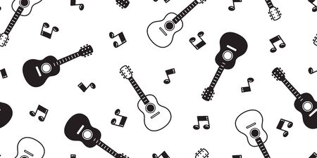 guitar seamless pattern vector bass ukulele music scarf isolated repeat wallpaper tile background graphic illustration Illustration