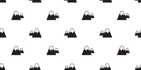 mountain seamless pattern vector snow mountain hill forest wood scarf isolated wallpaper background doodle cartoon