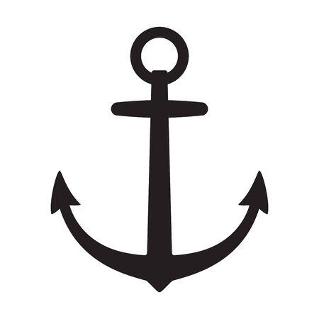 Anchor vector icon boat pirate Nautical maritime helm illustration symbol graphic design clipart