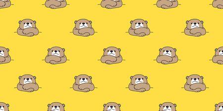 bear seamless pattern polar bear vector panda teddy isolated background repeat cartoon doodle wallpaper