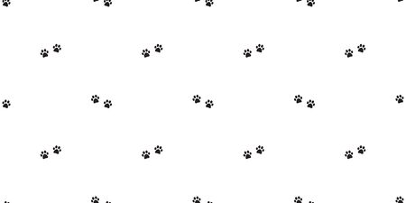 dog paw seamless pattern vector footprint french bulldog scarf isolated repeat wallpaper tile background