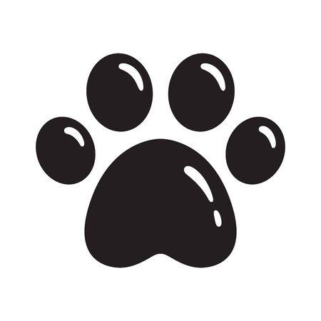 dog paw vector footprint icon french bulldog cat puppy cartoon symbol sign illustration 일러스트