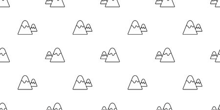 mountain seamless pattern vector snow mountain hill forest wood scarf isolated wallpaper background cartoon doodle