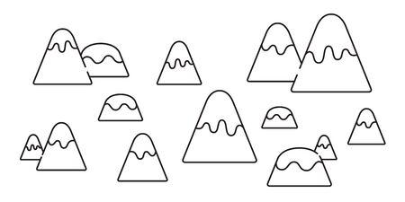 mountain vector snow mountain icon cartoon illustration hill wood forest