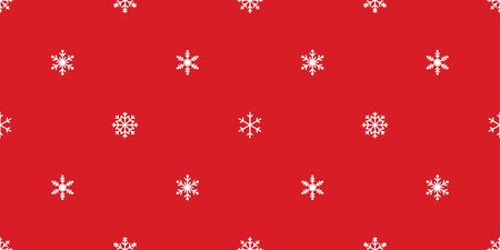 Snowflake seamless pattern vector Christmas tree Santa Claus scarf isolated repeat wallpaper tile background illustration gift wrapping paper Иллюстрация