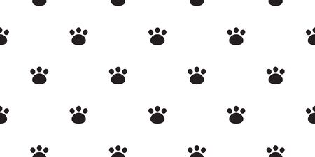 bear paw seamless pattern foot print polar bear vector isolated wallpaper background