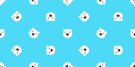bear seamless pattern polar bear vector panda teddy isolated background repeat wallpaper cartoon doodle blue 일러스트