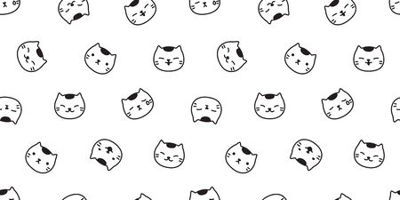 cat seamless pattern kitten vector scarf isolated background repeat wallpaper