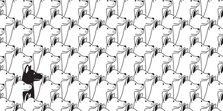 dog seamless pattern vector french bulldog house scarf hound isolated repeat wallpaper tile background illustration doodle