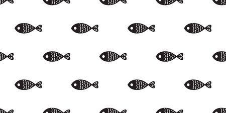 fish seamless pattern vector salmon shark fin dolphin whale ocean sea background isolated repeat wallpaper Vector Illustration