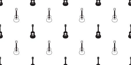 guitar seamless pattern vector bass ukulele music scarf isolated tile background repeat wallpaper graphic illustration Illustration