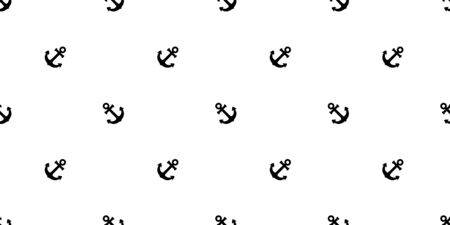 Anchor seamless pattern vector boat helm isolated pirate scarf Nautical maritime ocean sea repeat wallpaper tile background