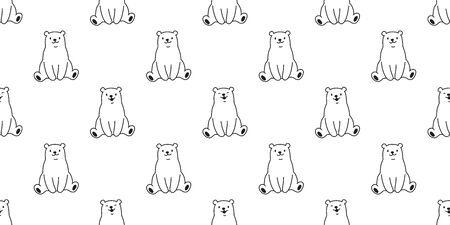 bear vector polar bear teddy panda seamless pattern wallpaper 일러스트
